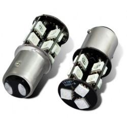 Lot de 2 Ampoule ba15s 19 led 12v 3w p21w auto 5050 smd blanc 1156/1157 lumiere gyrophare