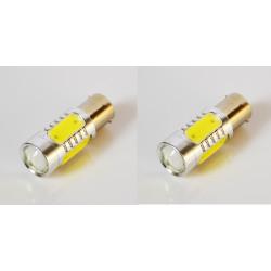 2 ampoule ba15s led lumière blanc ba15s 12v 7.5w p21w smd pour voiture eclairage girophare