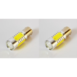 2 x 1156 ba15S s25 7.5w cob car led lamps tail brake headlight fog turn signal bulbs replace hid xenon