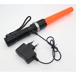 CREE XM-L Q5 stradale condotto la torcia elettrica traffico bacchetta torcia lanterna lampada tattica per manganello della poliz