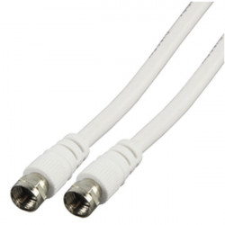 75 ohm antenna cable plug f plug cord male f 20m white konig cable-527/20