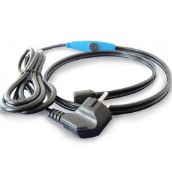 Antifreeze electric heating cable cord 2m shpt-2m pipe frost protection with water hose thermostat