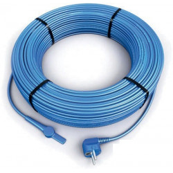 28m antifreeze electric heating cable cord aquacable-28 pipe frost protection with water hose thermostat