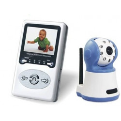 Home 2.4 inch wireless tft lcd video baby monitor + cmos 380tv lines ir night vision camera 2.4ghz baby monitor