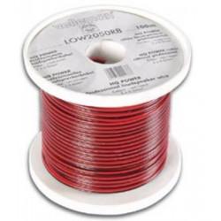Loudspeaker wire red black 2 x 0.50mm² 100m