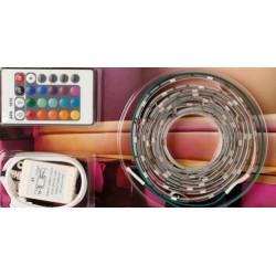 Flessibile ha portato kit con 60 led rgb controller e 12vdc chls17rgb 2m / 2