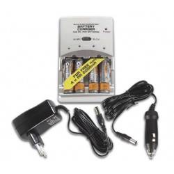 Ni mh superfast, charger for aa, aaa batteries, 4 ni mh aa 2200mah batteries included