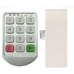 Del metal plateado cerraduras electrónicas teclado Contraseña armario bloqueo gabinete Digital para Locker hotel de la oficina d