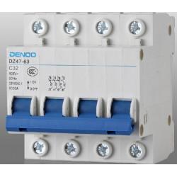 3p +n 32a 400v circuit breaker break electrical dz47-63  4-pole  320 amp