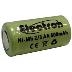 1 Batterie rechargeable 2/3AA Ni-Cd 600mAh 1.2v Classe énergétique A++ sans lamelle