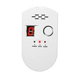 Combustible gas detector with alarm