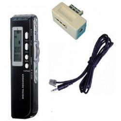 Dictaphone numérique 4gb micro haute qualité enregistreur téléphone analogique mp3