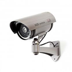 Dummy kamera mit led metallgehause halterung uberwachungskamera sicherheitstechnik videokamera kamera attrappen uberwachung. vid