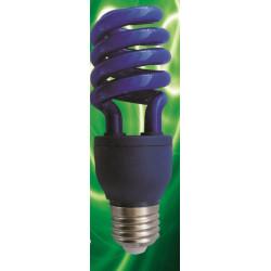 Blue spiral compact fluorescent lamp bulb e27 13w  75w 220v 230v 240v fluorescent lighting