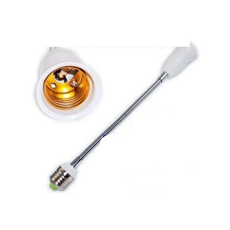 30cm verstellbar steckdosenleiste e27 e27-buchse männlich zu weiblich medium base glühbirne 12v 220v