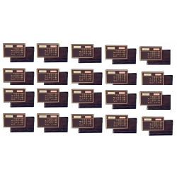 20 Calculatrice electronique solaire calculette carte de credit mince voyage compact