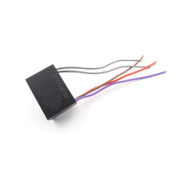 Condensador de ventilador de techo Cbb61 4.5Uf + 5Uf + 5uf 5 cables, 250 Vac Modelo: CBB61