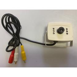 Camera 12v cam16 scam02 audio video n/b pour scam02 scamset2 objectif 1/4 surveillance noir blanc