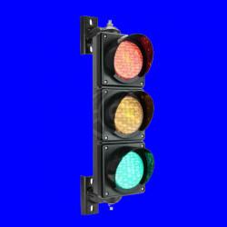 Semaforo per esterni IP65 3 x 100mm 220V LED verde arancione rosso SM32 semaforo