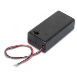 Portapilas para 1 pila o bateria 1 x 9v 6f22 6lr6 acopladores pila o bateria 9v 6f22
