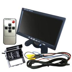 """7 Zoll 12V / 24V Auto Auto Monitor TFT LCD 5 """"HD Digital 16: 9 800 * 480 Bildschirm für Rückfahrkamera DVD VCD"""