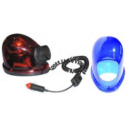 Gyrophare magnetique 12v 21w avec sirène girophare rouge goutte eau feux  tournant aimante - Eclats Antivols