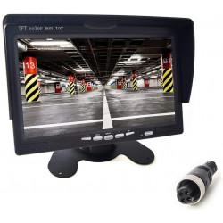 """Monitor LCD TFT da 7 """"12V 24V visione notturna impermeabile autobus rimorchi furgoni camion camper"""