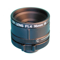 Objetivo camara 16mm con diafragma accesorios video lm16jcr