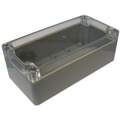 Coffret etanche abs coffre boitier boite 160x80x55mm g368c couvercle transparent entretoises