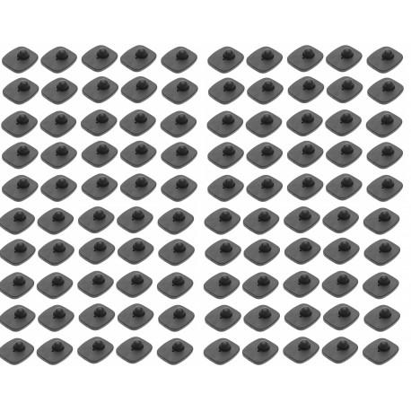 100 Targhetta + chiodo 8.2mhz per sistema antifurto monoantenna impedisce di portare fuori dai negozi oggetti non passati preven