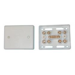 Caja con bornes autoprotegida 8 contactos jb20 caja conexiones alarma telefono domotica conexiones electricas domotica