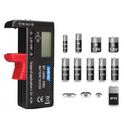 Universal Digital Battery Capacity Tester BT-168D Checkered Charge Indicador de Bateria Test BT168D