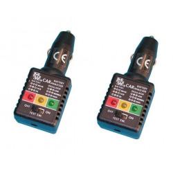 2 Tester per batteria e caricatore auto collegamento accendi sigari accessori auto