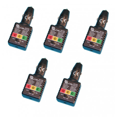5 Tester charger electronic battery tester charger 12vdc batteries tester intelligent