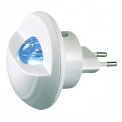 Night light led white ranex plastic with sensor and euro plug 230v 50hz ra rx2608 konig