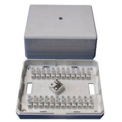 Caja de conexion con bornes autoprotegidos 24 contactos jb30 para alarma telefono conexiones electricas cajas conexion