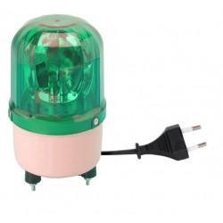 Girofaro fisso 220vca 10w verde (fissazione con viti) rb101 girofari elettrici fissi colore verde