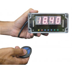 Display 4 numeri a comand radio e alimentazione di rete 230v contatore a scalare 1 a 99 min