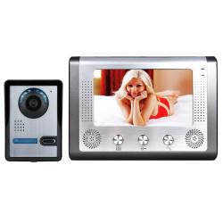 7 inch 18cm videoportero teléfono timbre intercomunicador kit 1 cámara 1 monitor visión nocturna