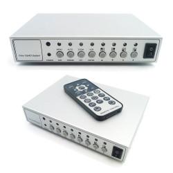 Quad 4 cámaras en color cuádruple procesador quadra vigilancia remota de vídeo cctv 401d