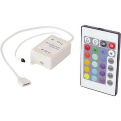 Led rgb controller + telecomando elettronico di potenza casella 12v eldgplsc12 centro