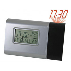 Clock showing the time of day alarm wt51 thermometer hydrometer weather forecast