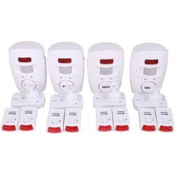 4 Ir allarme rilevatore di movimento autonomo con 2 telecomando e il volume della sirena st205