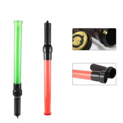 2 Traffic police baton 21 inch red green lightingtraffic led safety control reflective warning stick flashlight