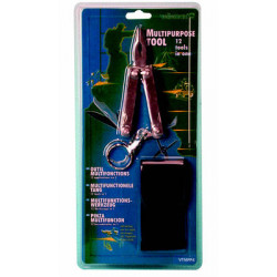 pinze 12 funzioni cacciavite Phillips piatto piccolo coltello grande lima per unghie scalpello portachiavi pinza