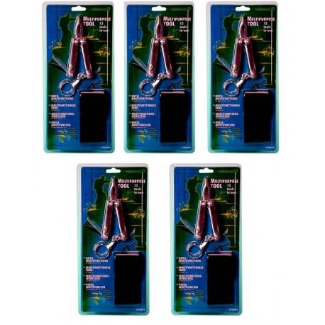 5 pinze 12 funzioni cacciavite Phillips piatto piccolo coltello grande lima per unghie scalpello portachiavi pinza