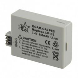 Akku für digitalkamera dcam.calpe5 7,4 vdc 650 mah art lp e5