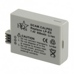 Batterie pour appareil photo numerique dcam.calpe5 7,4 vdc 650 mah type lp e5