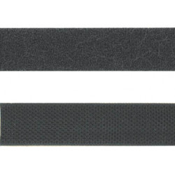 Velcro roll 5m male + female black headband fixing scratch