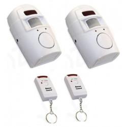 2 Ir allarme rilevatore di movimento autonomo 2 telecomando e il volume della sirena st205